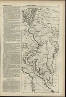 Maryland Virginia Potomac River 1861 antique Harpers Civil War map