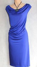 GEORGE SIZE 16 RUCHED DETAIL ROYAL BLUE PENCIL GALAXY WIGGLE DRESS # US 12 EU 44