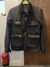 BARBOUR INTERNATIONAL WAXED BLACK BOMBER JACKET SIZE SMALL RARE