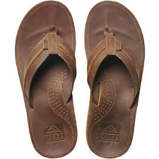 Reef Mens Voyage Lux Summer Beach Holiday Flip Flop Thongs Sandals - Brown