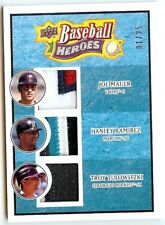 2008 Upper Deck Heroes 192 Mauer Ramirez Tulowitzki Lt. blue triple patch 01/25