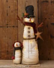 Snowman & Child w Lights Country Prim 32in more available wg 7d4090 NEW Shelley