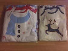 New Boys X5 Christmas Long Sleeved Babygrowns - Aged 18 - 24 Months -Mint