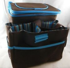 Collapsible Thermos Picnic Basket with storage for Glasses Bottles and Plates