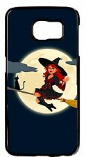 For Samsung Galaxy Note 5 Funny Halloween Theme Cute Witch Black Skin Case Cover