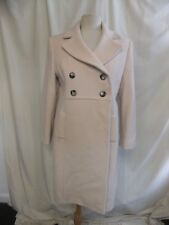 "Ladies Coat Minuet Petite UK 14 ivory, 70% wool, length 40"", needs cleaning 2348"