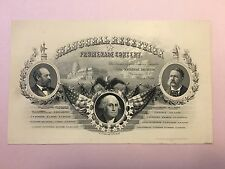 March 4 1881 Presidential Inauguration Ticket James Garfield 20th US President