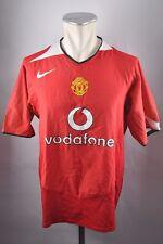 Manchester United Trikot 2004-2006 Gr. L Nike rot Home Jersey vodafone Shirt