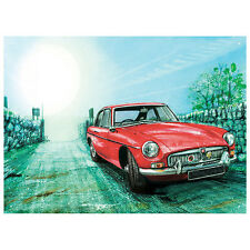 MGB WaterColour Red Metal Wall Sign 30x41cm Licensed Motors Car Gift 50118