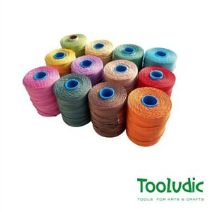 Mexican technical hemp colorful thread with extreme durability - just 1 spool !