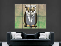 STYLE OWL ABSTRACT POSTER WALL HUGE GIANT ART PRINT PICTURE