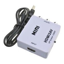 Hdmi Zu Rca Hd Video Audio Av Cvbs Composite Converter Adapter Mit Usb-ladekabel