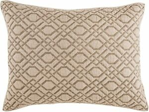 Croscill King Size Quilted Sham Alana/ Taupe  Polyester 20 x 36  Inches