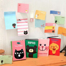 Cute Cartoon Animal Sticky Note Memo Pad Notebook Label Post It Stationery Gift