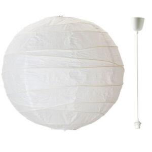IKEA REGOLIT Papierlampe Hängeleuchtenschirm + HEMMA Lampenaufhängung weiß NEU