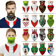 Xmas Half Face Mask Unisex Balaclava Bandana Neck Gaiter Tube Scarf Headwear