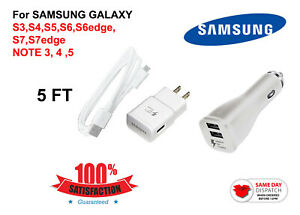Adaptive Fast 5ft Generic USB Charger Cable For Samsung S5 / S6 / S7 Edge / S8+