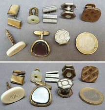 8 BOUTONS DE MANCHETTE dépareillé ancien cufflinks