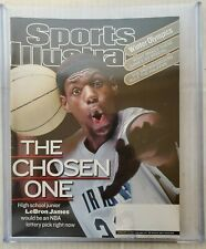 Lebron James First Sports Illustrated Magazine No Label Rare Nr mint Lakers