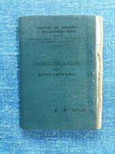 CARTA CIRCOLAZIONE AUTO FORD TAUNUS 20/M / TS  COUPÉ  1966  / PER COLLEZIONISMO