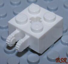 SK100 383901 /& NEU ! 100 Stück weiße Platte 1x2 mit 2 Griffen 3839