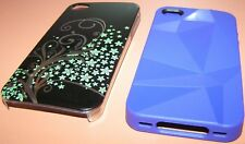 Lot of 2 Apple iPhone 4/4s cases, 1 Speck Purple, 1 ultra thin snap on w print