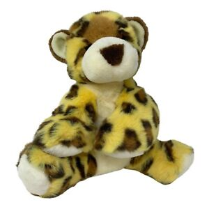 Animal Alley Plush Leopard Cub Cheetah Soft Floppy Yellow Brown Stuffed Animal