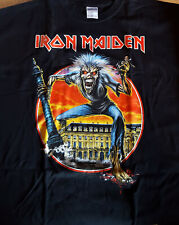 T SHIRT IRON MAIDEN xl Somewhere Back in Time 2008 Paris super rare collector