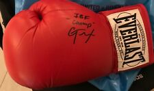 Signed Everlast boxing glove Caleb Traux IBF Super Middleweight Champ