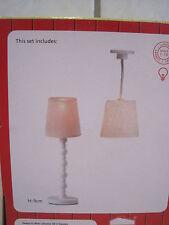 Lampen Set 2 Stück  Beleuchtung f. Puppenstuben NEU Lundby -Serie smaland