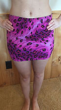 GUESS JEANS Women's Pink & Fuschia Leopard Micro Mini Skirt Size 26 NEW