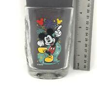 Mickey Mouse Walt Disney World Magic Kingdom 2000 Square Glass Cup McDonald's
