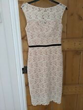 Miss Selfridge White Lace Occasion Pencil Dress Size 8