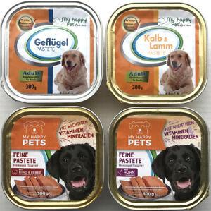 90 x 300g MY HAPPY PETS Hundefutter Pastete 4 verschiedene Sorten *versandfrei*