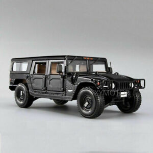 1/18 Maisto Hummer H1 Car Model Alloy Diecast Mini Vehicles Toy Black Color