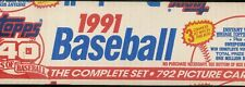 1991 TOPPS BASEBALL COMPLETE FACTORY SEALED SET 1-792