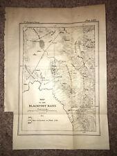 1877 Sketch Map Diagram of Blackfoot Basin Soda Springs and Georgetown