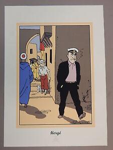 Hergé. Tintin. Alan. Sérigraphie.Crabe aux Pinces d'or. 1991