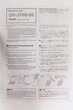 Original Roland SR-JV80-05 World Manual Install Instructions & Patch List