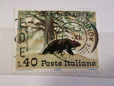 ITALIE ITALIA 1967, timbre 965, ANIMAUX, OURS BRUN, oblitéré, BROWN BEAR, STAMP