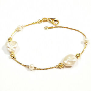 Freshwater KESHI Pearls and 14kt Gold Filled Beads ANKLET - Made to your size!