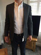 John Lewis Mens Grey/Blue Wool Silk Blend Brand New Size 38R RRP £140