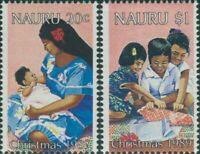 Nauru 1989 SG377-378 Christmas set MNH