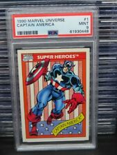 1990 Marvels Universe Captain America Super Heroes #1 PSA 9 MINT (48) Q162