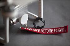 Flexible 3D Printed White Lens Cap & Hood + Keychain for DJI P3's