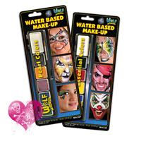 Wolfe Face Paint FX Makeup Essential Metallix Set 2 Mini Palettes w/ Brushes