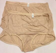 Vintage Granny Panties Sears 2 Pair Beige Sz 11 Soft New Hips 49-52 Made in USA