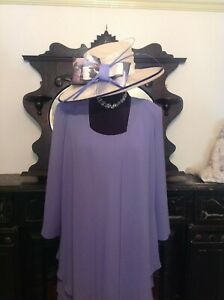 Cattiva Mother Of The Bride Wedding Outfit Dress and Jacket Suit Size 16