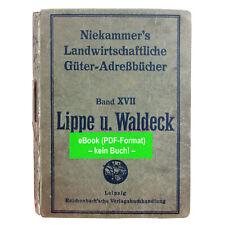 eBook: Güteradressbuch Niekammer, Lippe u. Waldeck, 1921 GA009