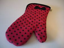New! Red w/Polka Dots & Bow Party Girl Dress Kitchen Oven Mitt Cotton Kay Dee